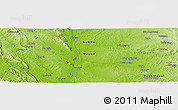 """Physical Panoramic Map of the area around 19°22'18""""N,95°16'30""""E"""