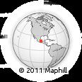Outline Map of Huatusco, rectangular outline