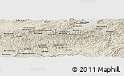 Shaded Relief Panoramic Map of Ban Chomlè-Noy