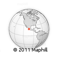 Outline Map of Avenida Miguel De La Madrid, rectangular outline