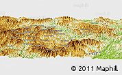 """Physical Panoramic Map of the area around 19°52'38""""N,104°37'30""""E"""