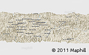"""Shaded Relief Panoramic Map of the area around 19°52'38""""N,104°37'30""""E"""