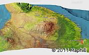 Satellite 3D Map of Akona