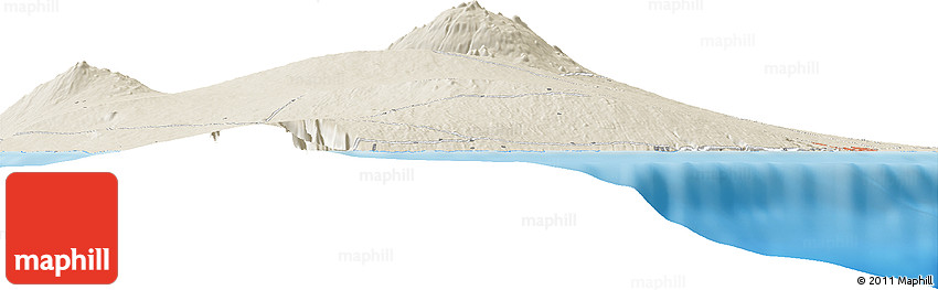 Shaded Relief Horizon Map of Waiakea