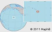 Gray Location Map of Akona