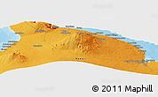 Political Panoramic Map of Akona