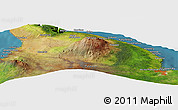 Satellite Panoramic Map of Akona