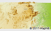 """Physical 3D Map of the area around 19°52'38""""N,36°37'30""""E"""