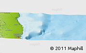 """Physical Panoramic Map of the area around 19°52'38""""N,37°28'30""""E"""