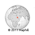 """Outline Map of the Area around 19° 52' 38"""" N, 38° 19' 30"""" E, rectangular outline"""