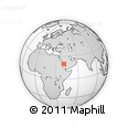 Outline Map of Ash Shāqqah Ash Shāmīyah, rectangular outline