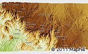 Physical 3D Map of Āl `Alyān
