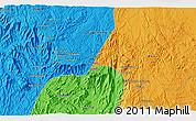 Political 3D Map of Āl `Alyān