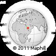 Outline Map of Āl `Alyān, rectangular outline