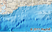 """Shaded Relief Map of the area around 19°52'38""""N,74°43'29""""W"""
