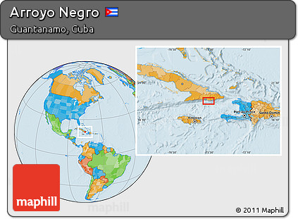 Political Location Map of Arroyo Negro
