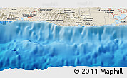Shaded Relief Panoramic Map of El Cobre