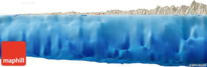 Shaded Relief Horizon Map of Balazos