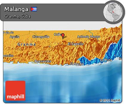 Political Panoramic Map of Malanga