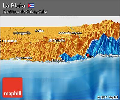Political Panoramic Map of La Plata