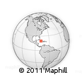 """Outline Map of the Area around 19° 52' 38"""" N, 78° 7' 30"""" W, rectangular outline"""