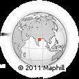 Outline Map of Urmāl, rectangular outline