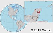 Gray Location Map of Petuillo