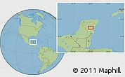 Savanna Style Location Map of Petuillo