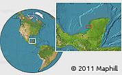 Satellite Location Map of Max