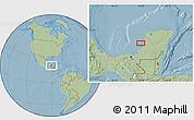 Savanna Style Location Map of Max, hill shading