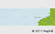"""Physical Panoramic Map of the area around 19°52'38""""N,90°52'30""""W"""