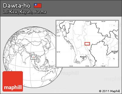 Blank Location Map of Dawta-hö