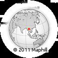 Outline Map of Chiang Rai International School, rectangular outline
