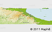 """Physical Panoramic Map of the area around 19°2'1""""S,146°16'30""""E"""