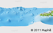 """Physical Panoramic Map of the area around 19°2'1""""S,177°43'29""""E"""