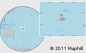 Gray Location Map of Kavala