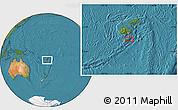Satellite Location Map of Kavala