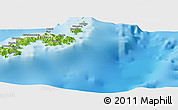 """Physical Panoramic Map of the area around 19°2'1""""S,178°34'29""""E"""