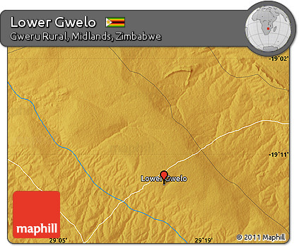 Free Physical Map of Lower Gwelo