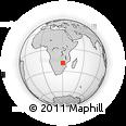 Outline Map of Chivhu, rectangular outline