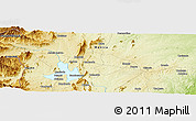 """Physical Panoramic Map of the area around 19°2'1""""S,33°13'30""""E"""