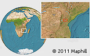 "Satellite Location Map of the area around 19°2'1""S,34°4'30""E"