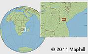 "Savanna Style Location Map of the area around 19°2'1""S,34°4'30""E"