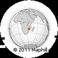 "Outline Map of the Area around 19° 2' 1"" S, 34° 4' 30"" E, rectangular outline"
