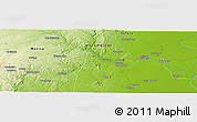 """Physical Panoramic Map of the area around 19°2'1""""S,34°4'30""""E"""
