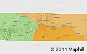 """Political Panoramic Map of the area around 19°2'1""""S,34°4'30""""E"""