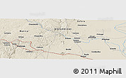 """Shaded Relief Panoramic Map of the area around 19°2'1""""S,34°4'30""""E"""