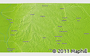 """Physical 3D Map of the area around 19°2'1""""S,34°55'29""""E"""