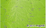 """Physical Map of the area around 19°2'1""""S,34°55'29""""E"""