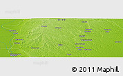 """Physical Panoramic Map of the area around 19°2'1""""S,34°55'29""""E"""